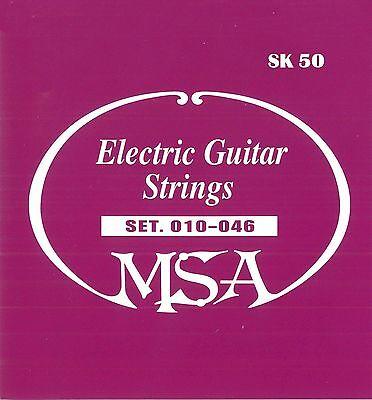 DREI SATZ E-Gitarrensaiten - MSA Markenqualität -Stahlsaiten Stärke 010-046 SK50 3