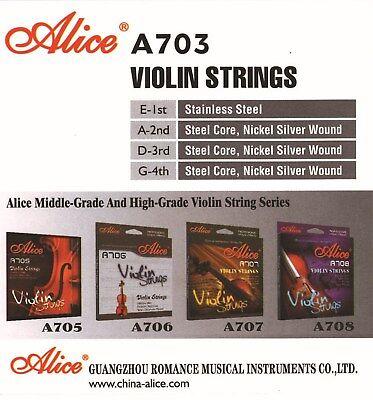 ►1 Satz Violinensaiten — Saiten Für Geigen — Stärken 010-014-021-029 — Msa 15 ◄