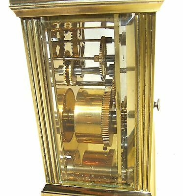 MAPPIN & WEBB Brass Carriage Mantel Clock Timepiece with Key  Working Order (61) 10