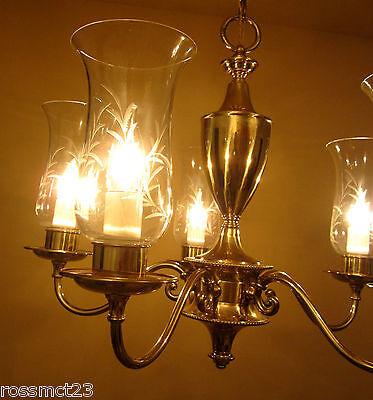 Vintage Lighting mid century 1950s chandelier by Framburg 7