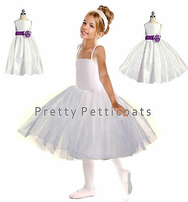 Girl Stiff Net Petticoat Slip Underskirt Crinoline Communion Flower Girl 3