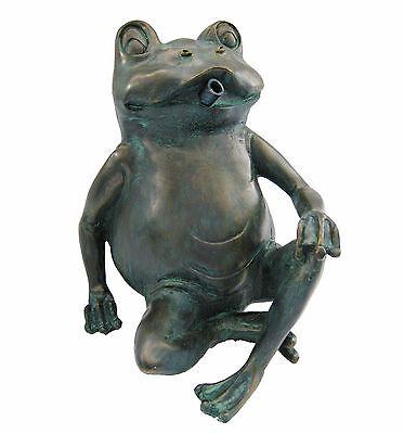 Wasserspeier frosch teichfigur teich garten figur for Frosch figur garten