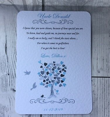 Thank You For Being My Godmother Card Godfather Godparents Thank You Card Gift 3