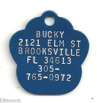K-9 Dog Paw Animal Foot Print Pet ID Label Name Tag