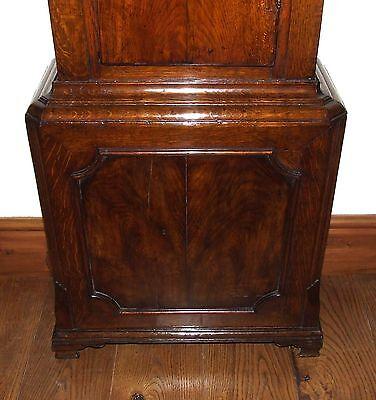 ~ Antique Brass Dial Burr / Pollard Oak Longcase Grandfather Clock MOSS FRODSHAM 9