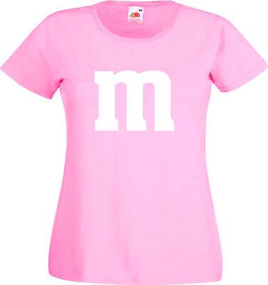 SCHLUSSVERKAUF Gruppenkostüm für M&M Fans MM Fasching Shirt 9
