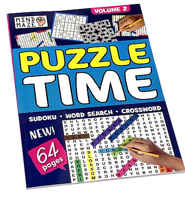 A4 Large Print Puzzle Books Kids & Adults Activity Bored Home No School Isolate 5