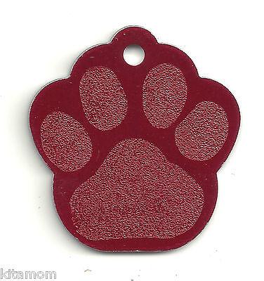 K-9 Dog Paw Animal Foot Print Pet ID Label Name Tag 10