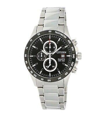 Citizen Men's Quartz Chronograph Tachymeter Black Dial 42mm Watch AN3648-52E 2
