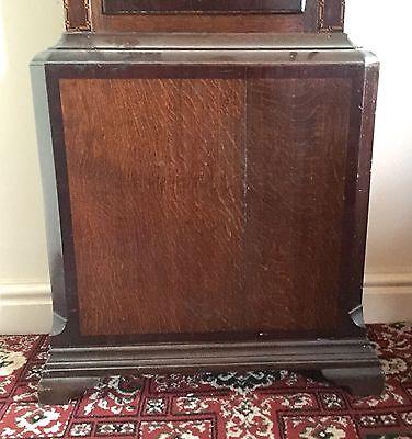 Antique Oak & Mahogany inlaid Longcase Grandfather Clock C Johnson CONGLETON 2