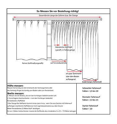 Gardinen Vorhang blickdicht mit Kräuselband Thermo Verdunkelung 250g/m2 #330-a 4