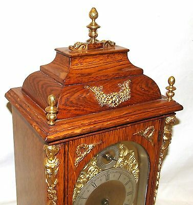 Antique Oak & Ormolu TING TANG Bracket Mantel Clock : Winterhalder W & H (a27) 3