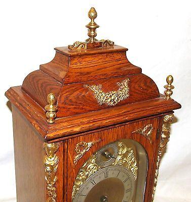 # Antique Oak & Ormolu TING TANG Bracket Mantel Clock : Winterhalder W & H (a27) 3