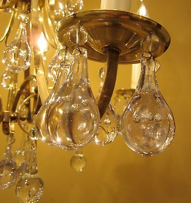 Vintage Lighting high quality Mid Century chandelier   Extraordinary Glass 3