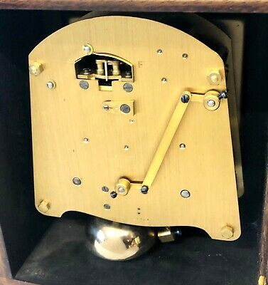 ELLIOTT LONDON Walnut Bracket Mantel Clock : Strikes Hours & Half Past 11