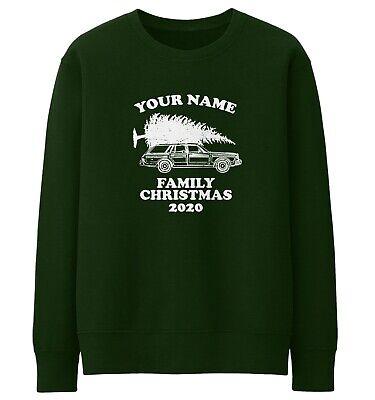 Personalised CHRISTMAS AT THE Mens Sweatshirt Xmas Jumper Novelty Gold Name