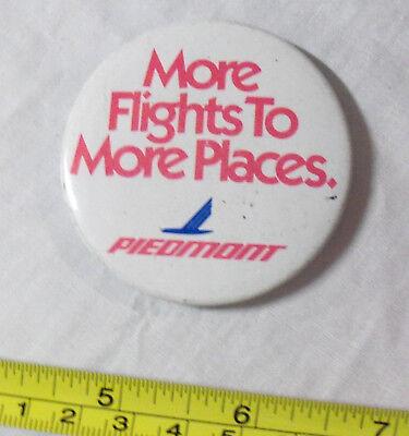 Vintage 1980s PIEDMONT AIRLINES Pinback Button American US Airways Eastern
