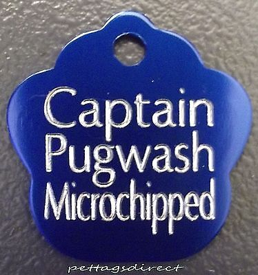 (Pk 3) - £6.99 Coloured Pet DOG/CAT Engraved ID Tags Deep Engraving S/M/L Sizes 10