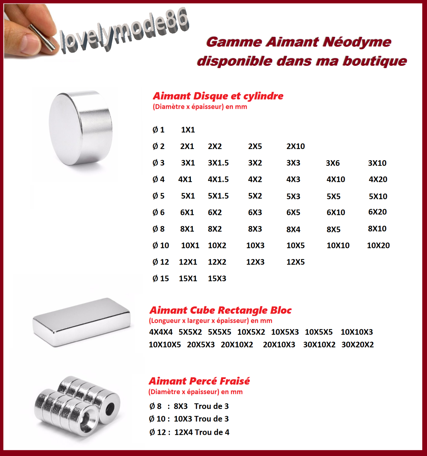 Aimants Neodyme N35 Très Puissant : Photo, Magnet, Fimo, Scrapbooking ... 2