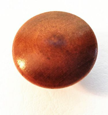 "Maple Antique Wood Drawer Knob Mushroom Antique Hardware Drawer Pull 1 1/4"" dia. 2"