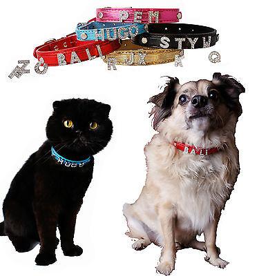 Hundehalsband Halsband mit Name Hund Katze Welpen Wunschname Strasshalsband 3