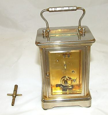 ENGLISH GARRARD & CO LONDON W1 Brass Carriage Clock with Original Box : Working 8
