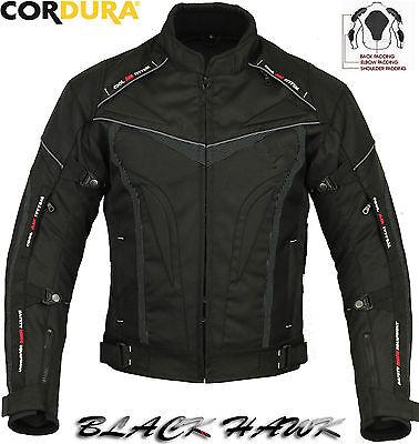 Black Hawk Mens Winter Ce Motorbike / Motorcycle Textile Jacket Trousers Suit 2