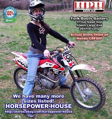 "1.18/"" x 1.97 x 8.46 Rubber Fork Boots Gators Gaiters Motorcycle Dirtbike Black"
