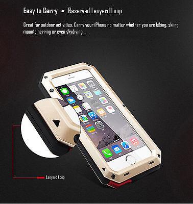 HEAVY DUTY Shockproof Waterproof Aluminum Metal Cover Case Fr iPhone X 11 8 7 6s 11