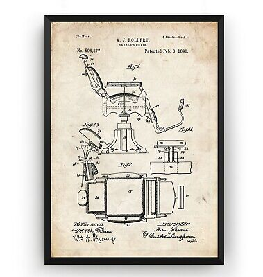 Poster Wall Art Gift Barbers Stylist Unframed Hair Clipper 1964 Patent Print