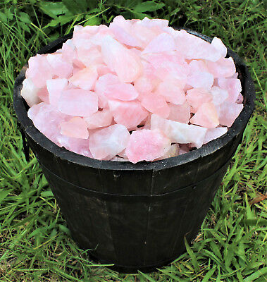 1/4 lb Bulk Lot Natural Rough Rose Quartz Crystals (Raw Reiki Love Healing 4 oz) 3