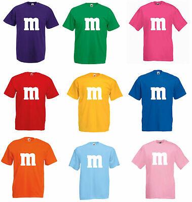 M und M  T-Shirt Kostüm Gruppenkostüm für M&M Karneval MM Männer und Damen 2