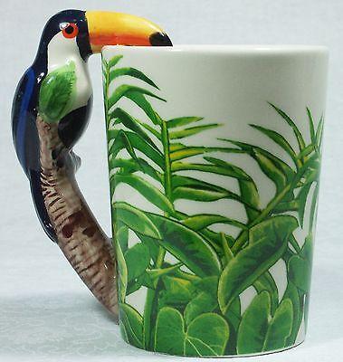 Ceramic Mug TOUCAN Bird in Rain Forest 9319844520058 RAINFTOUM Gift Box 5