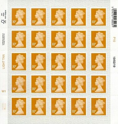 GB NEW 2019 SBP2u M19L 10p W1 CYLINDER DATE BLOCK OR SINGLE MACHIN DEFINITIVE 2