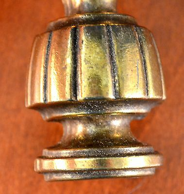 """Mid-Century Gold CHUNKY KBC Heavy Furniture Pull KEELER BRASS N-6763 6"