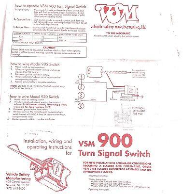 SIGNAL STAT 900 - Universal 7 Wire Turn Signal Switch
