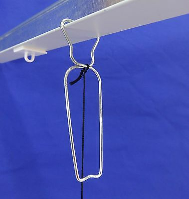 Metal Squeeze-E-Clip w/6' Black Cotton Barbed Cord Ceiling Tile Grid Track Hook 4