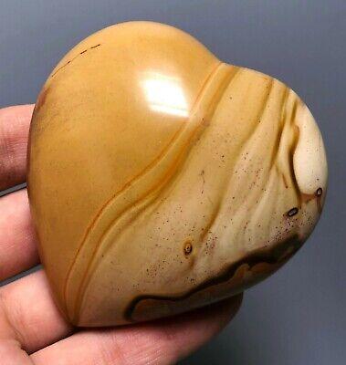 Polished POLYCHROME JASPER HEART Reiki Healing Palm Stone - Madagascar 3