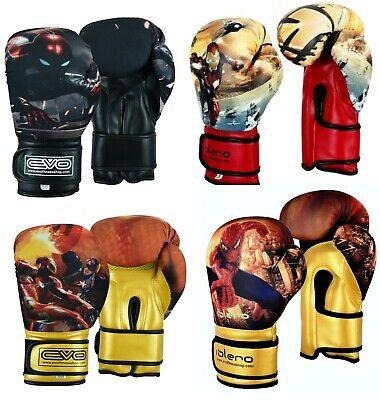 EVO Kids Boxing Gloves Junior MMA Punch Bag Mitts Muay Thai Sparring Training 2