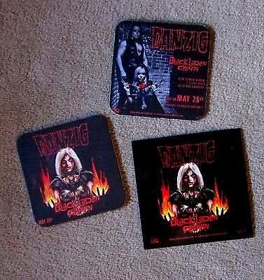 DANZIG Black Laden Crown - LP / Clear Red Vinyl + Sticker + 2 Bierdeckel