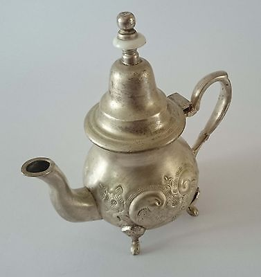 Teapot Tea Pot Old Beautiful  Handcrafted Marked  Islamic  Moroccan Hammered 3