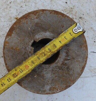 alt Welle Riemenscheibe Umlenkrolle dreifach Eisen Keilriemenscheibe 3 fach 5 kg 4