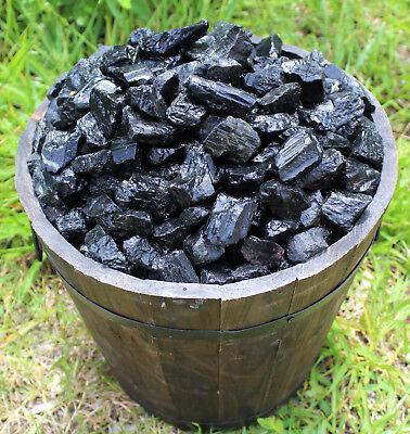 Black Tourmaline Rough Natural Stones: 1 lb Bulk Wholesale Chakra Raw (16 oz) 2