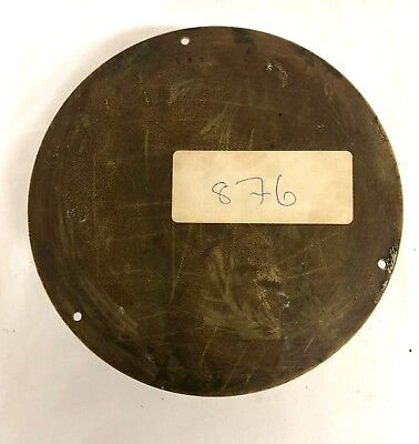 Antique Ships Marine Bulkhead Bulk Head Brass Cased Ships Clock ENAMEL DIAL 11