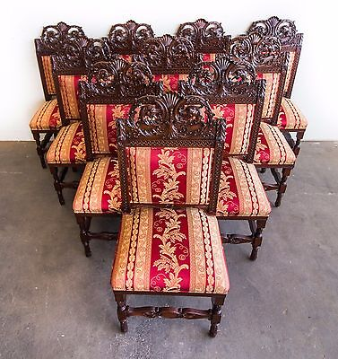 English Victorian 13-Piece Mahogany Dining Suite circa 1890 #7950