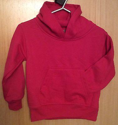 ISOBEL 09 Graphic Cerise Hoodie Sweatshirt.  Age 5-6 Years.  Polycotton 3