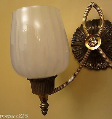 Vintage Sconces matched pair circa 1965 Hollywood Regency by Lightolier 3