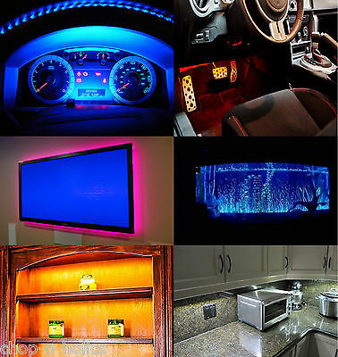 Led Strip Aquarium Lights 5050 Kits With 9V Pp3 Battery Box & Switch Or Without