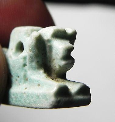 Zurqieh - Sc455- Ancient Egypt, Faience Bull Amulet , 1075 - 600 B.c 4