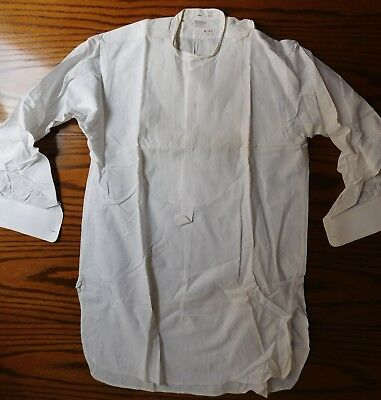 Rialbo starched tunic dress shirt Pin tuck front Size 15.25 vintage early 1900s 4